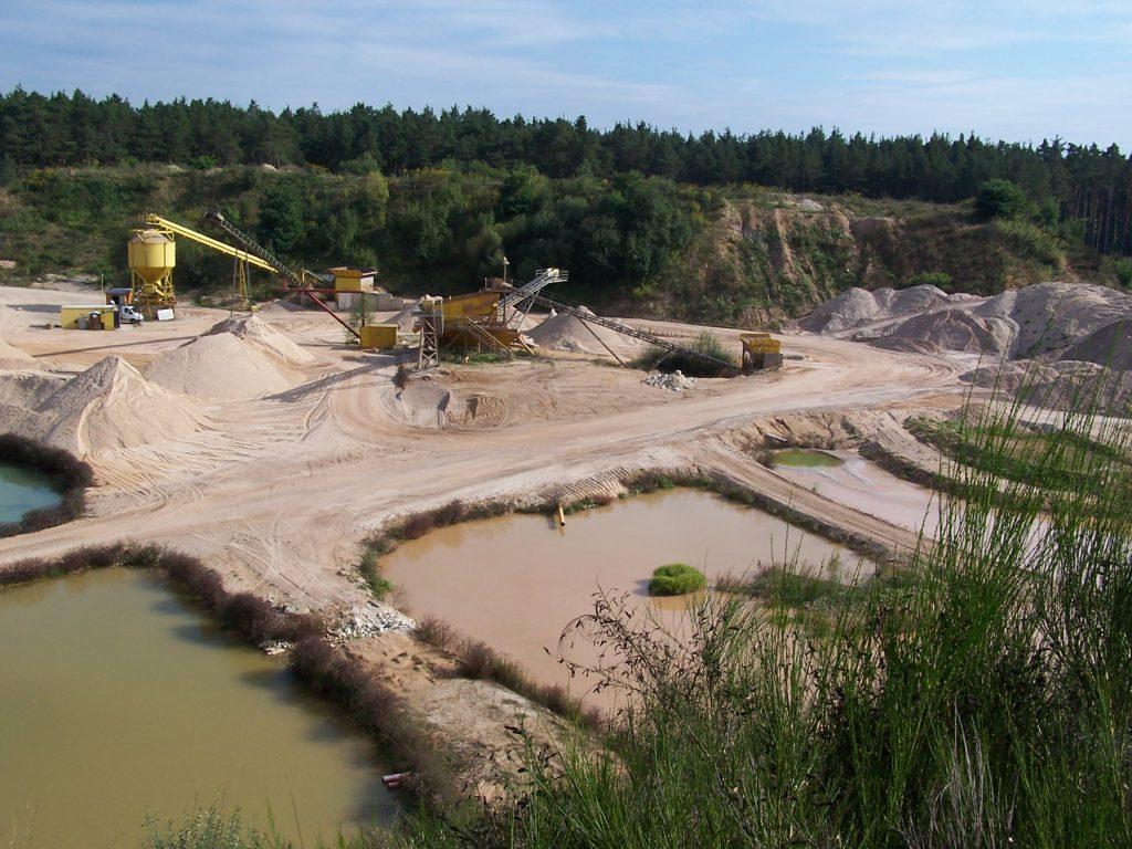 Sandwerke Weiherbau Wasserbau Sandabbau Baustoffe