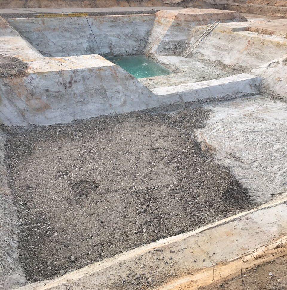 Digitale Baustellen Bauleiter Bagger Aushub Gerade Untergrund Tiefbau