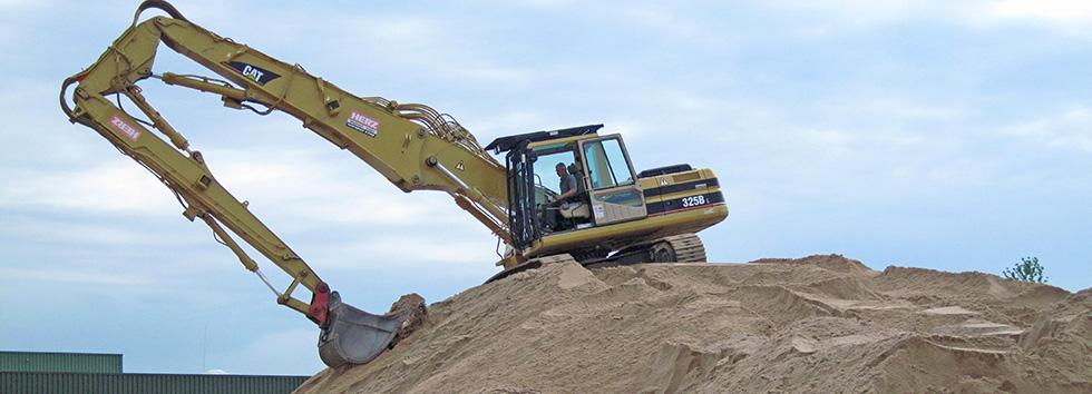 HERZ Aushub Bagger Sand Tiefbau Baugewerbe