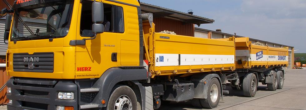 Hänger Container Schubboden Sattel Tieflader Schwertransport Betontransport Fertigteile