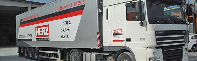 Referenzen Walking Floor Entsorgung Transporte Schubbodenfahrzeug Süddeutschland Papierhandel