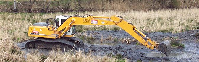 Wasserbau Erdbau Bagger Renaturierung Sanierung Weiherbau
